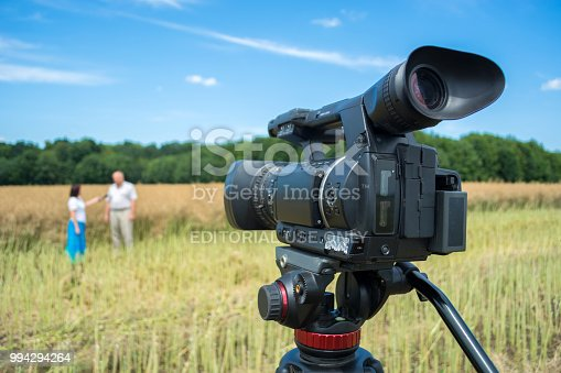 istock shooting of a reportage on agrarian subjects with the help of modern video cameras 994294264