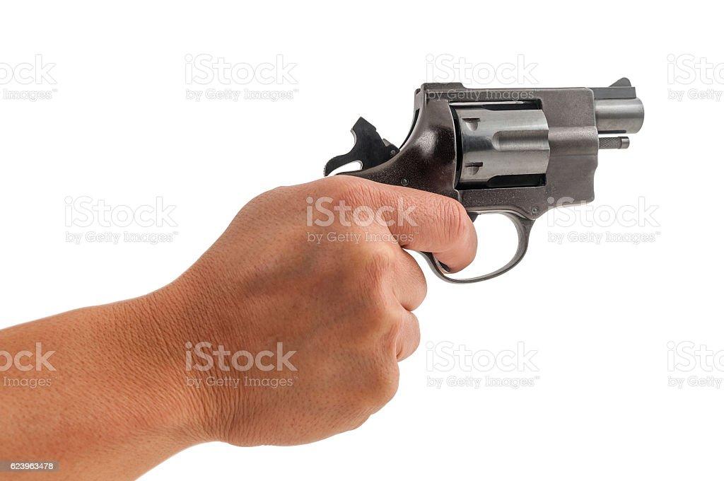 Shooting on white stock photo