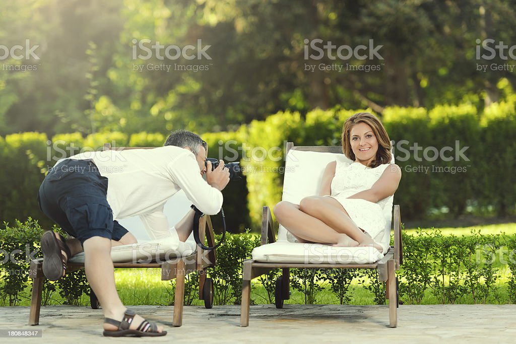 shooting outdoors royalty-free stock photo