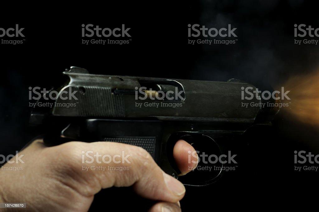 Shooting Pistol stock photo
