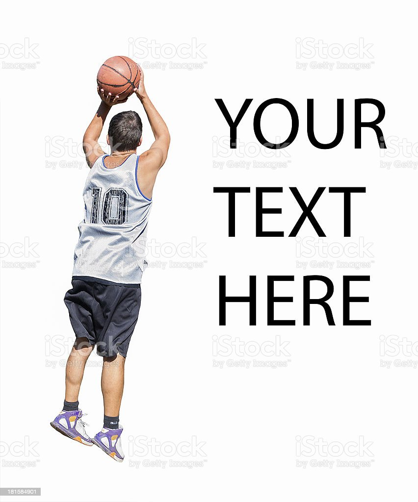 shooting player with your text here royalty-free stock photo