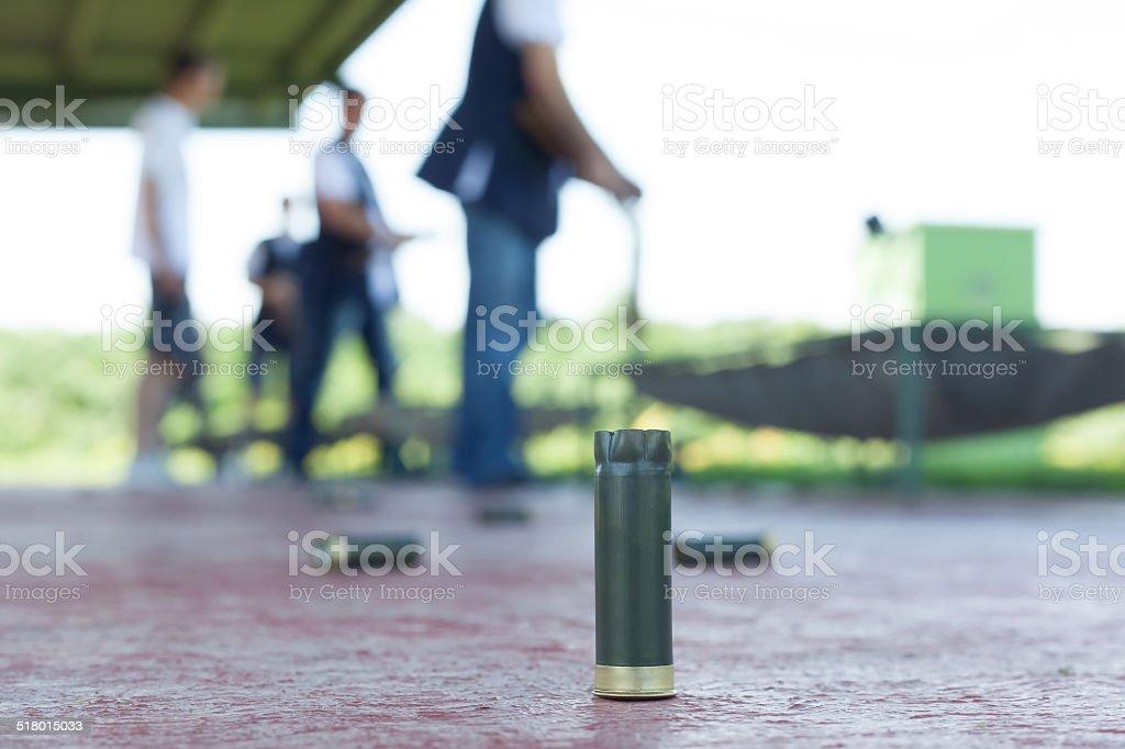 shooting range outdoor stock photo