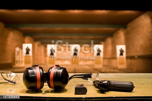 Shooting equipment ready to use
