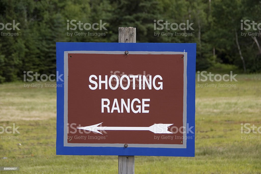 Shooting Range Sign royalty-free stock photo