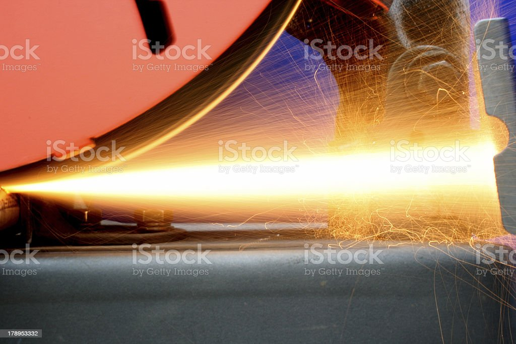 Shooting sparks royalty-free stock photo