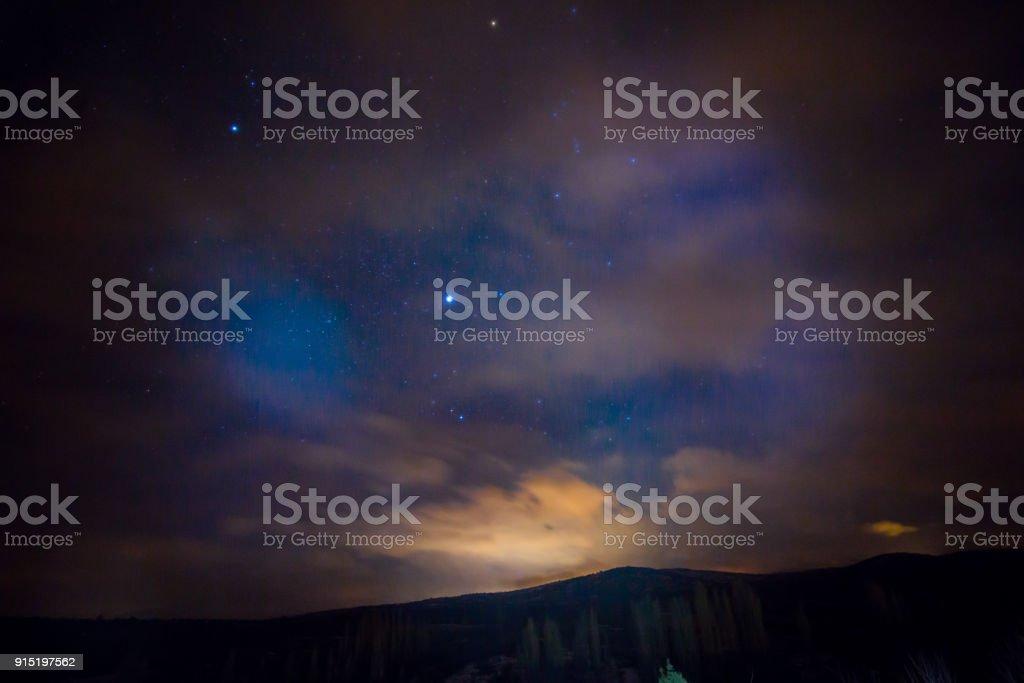 long exposure shot of the stars of night