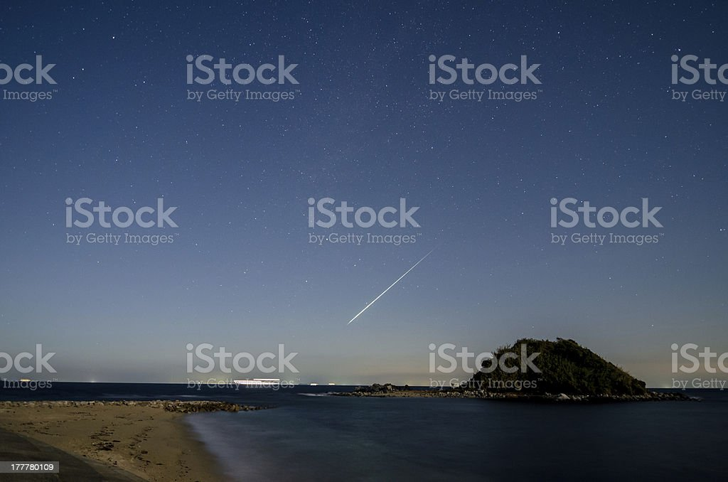 Shooting star royalty-free stock photo