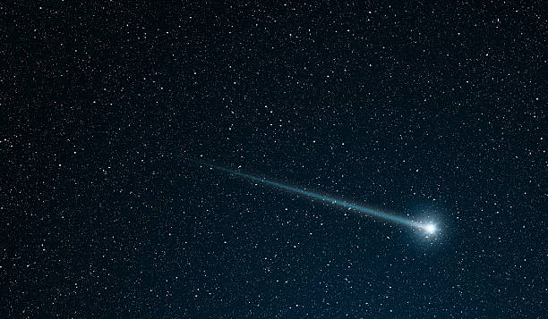 shooting star stock photo