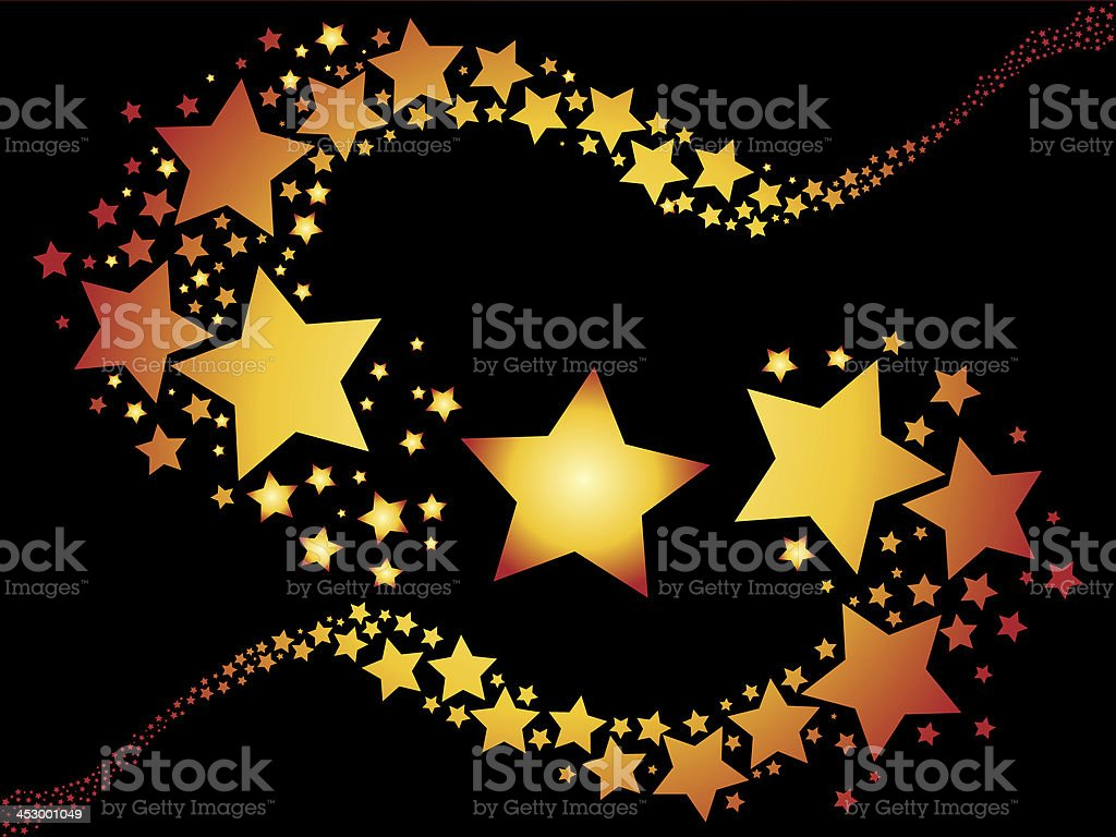 shooting stars on black background illustration stock photo