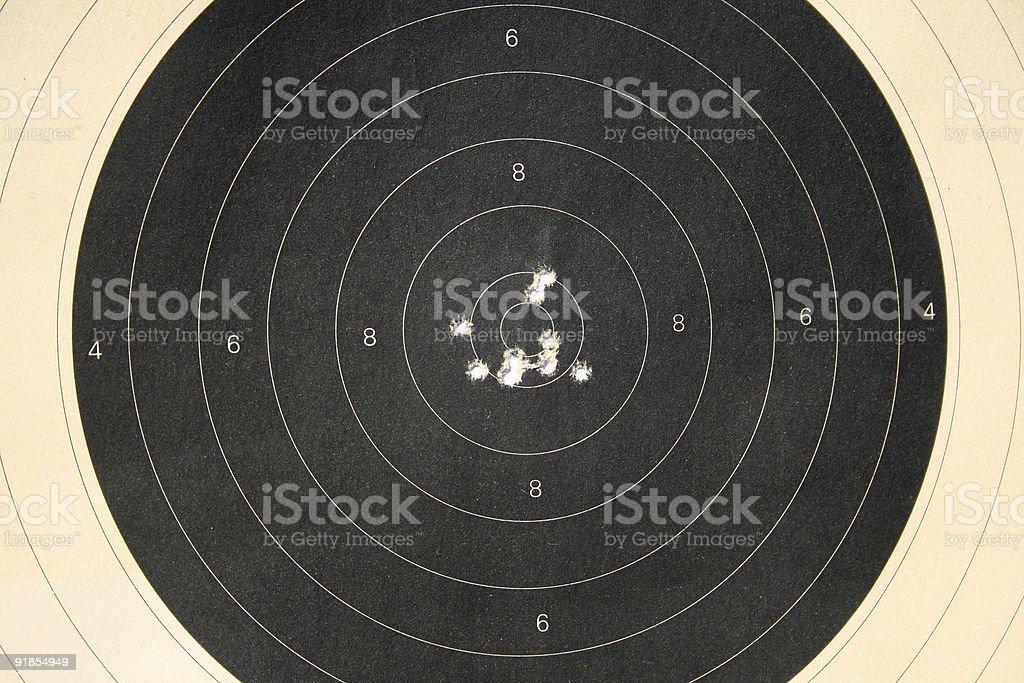 shooting target 726 royalty-free stock photo