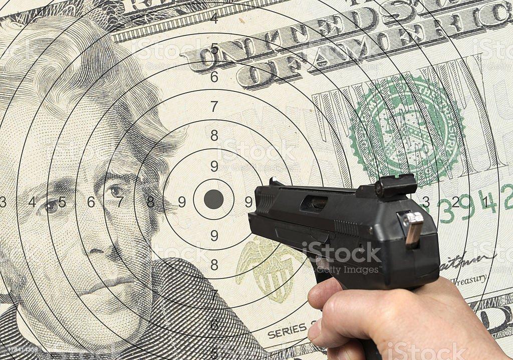Shooting target royalty-free stock photo