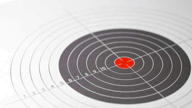 shooting target with selective focus - sports target stock photos and pictures