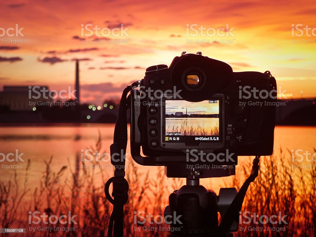 Shooting The Sunrise royalty-free stock photo