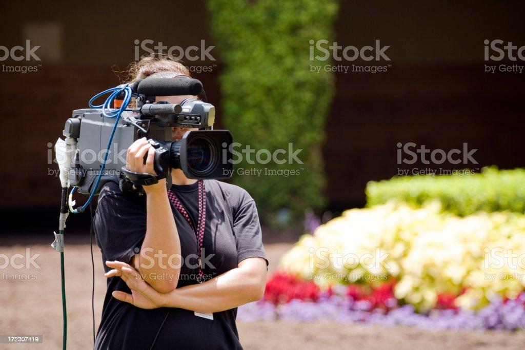 Shooting Video royalty-free stock photo