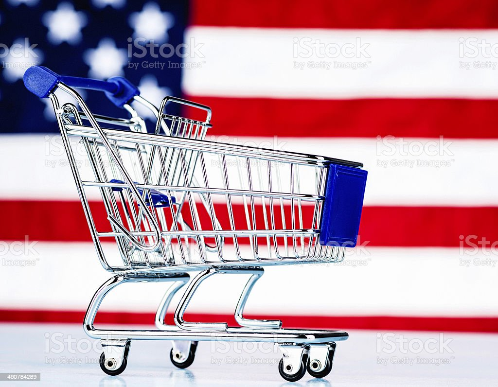 Shop and Buy American Goods stock photo