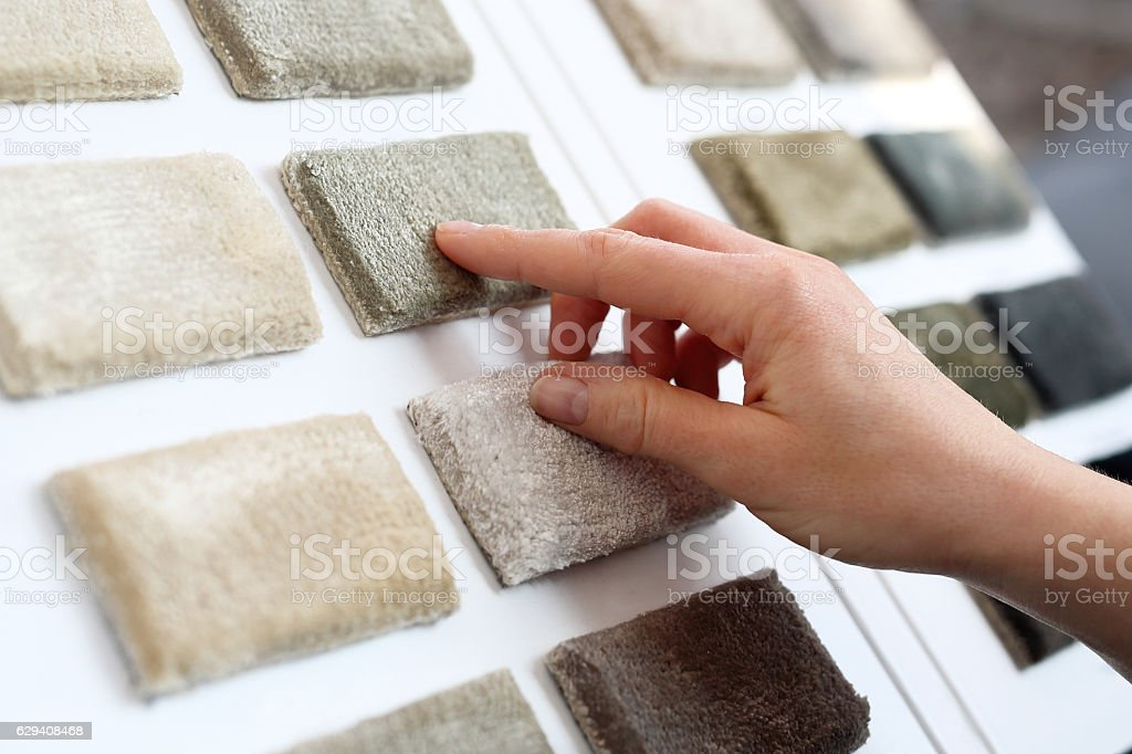 Shop carpets. Picker carpet. – Foto