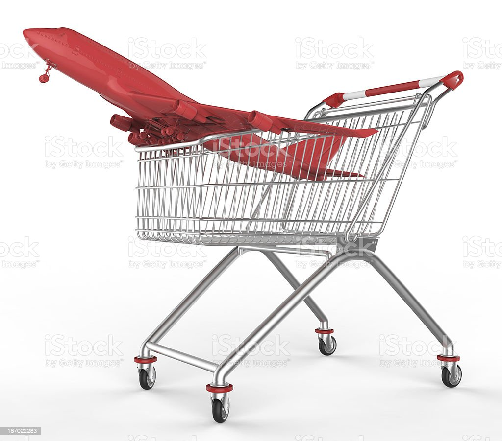 shop cart and aircraft royalty-free stock photo