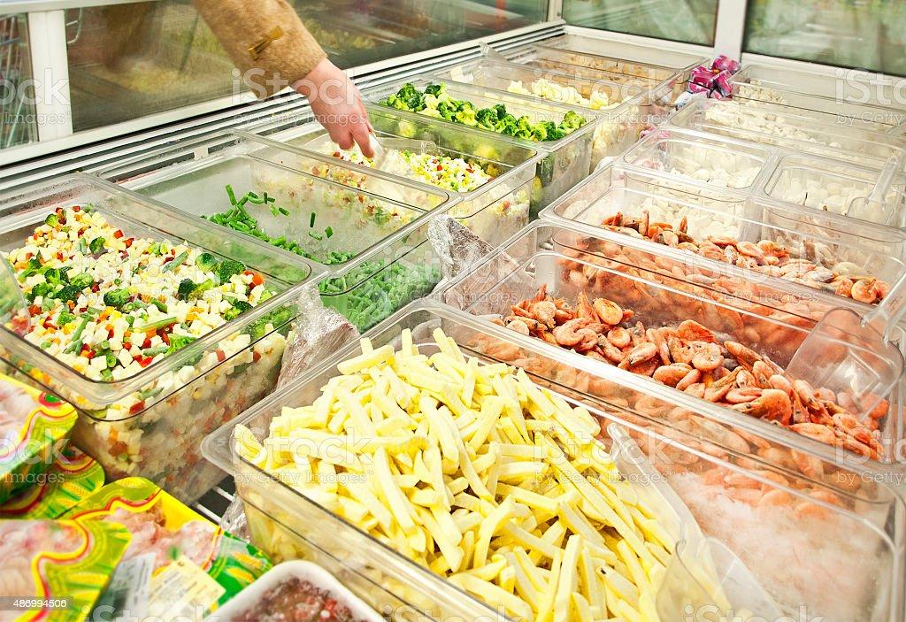 shop freezer stock photo