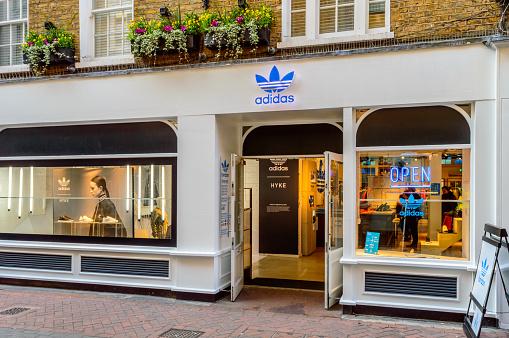 Shop Front Of Adidas Originals Store London Stock Photo