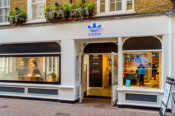 Shop front of Adidas Originals store, London stock photo