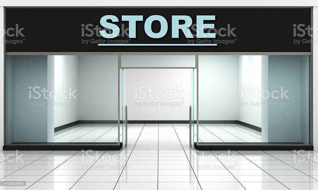 Shop Front. stock photo