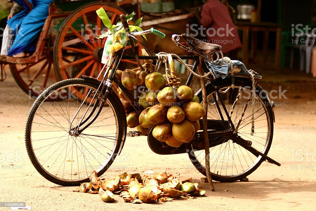 Shop in a Bicycle royalty-free stock photo