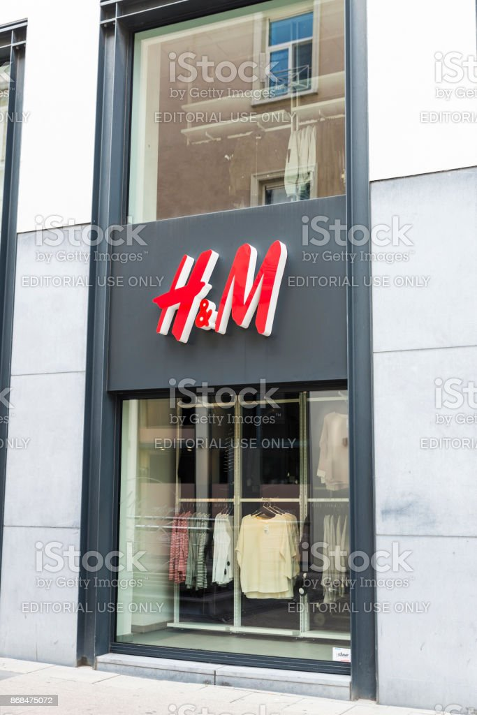 HM shop in Brussels, Belgium stock photo
