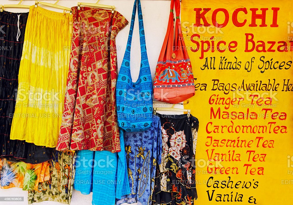 Shop in Fort Cochin royalty-free stock photo