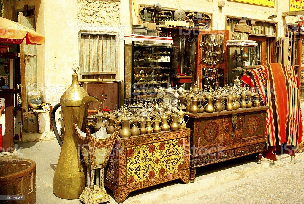 Shop in Souq Waqif,Doha stock photo