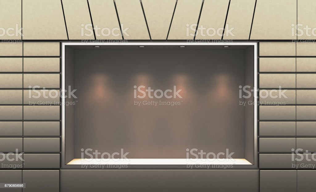 Shop in the old house. 3d rendering stock photo