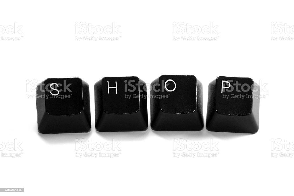 shop - keyboard keys royalty-free stock photo