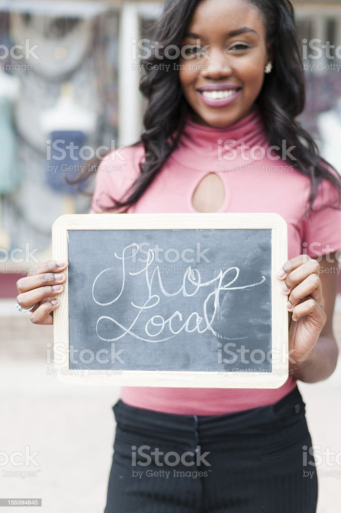 Shop Local royalty-free stock photo