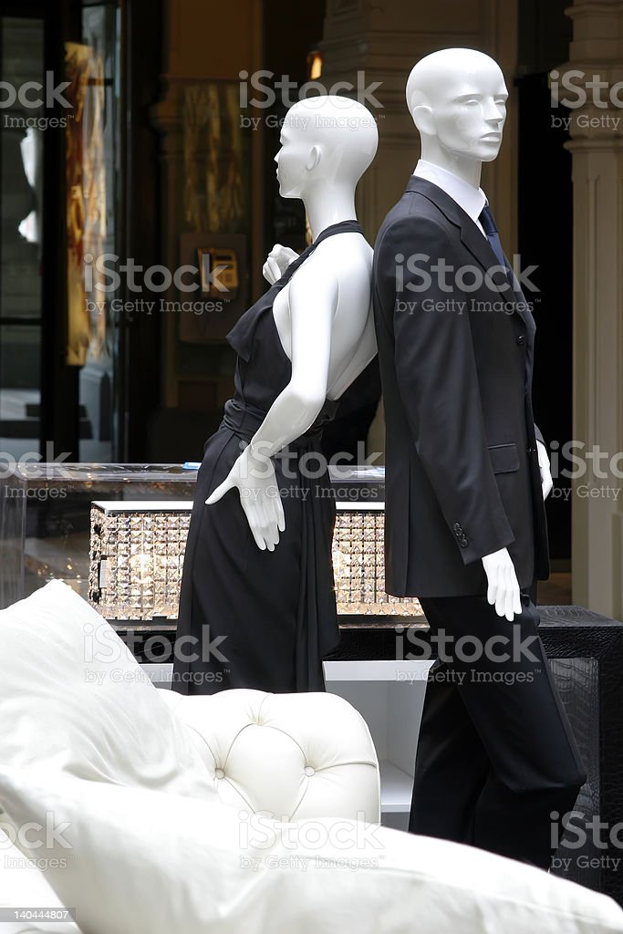 shop of fashionable clothes royalty-free stock photo