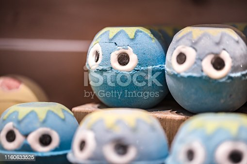656780900istockphoto Shop of natural cosmetics, salt bombs for a bath 1160633525
