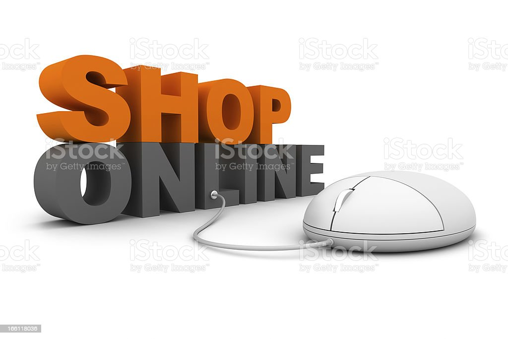 Shop Online royalty-free stock photo