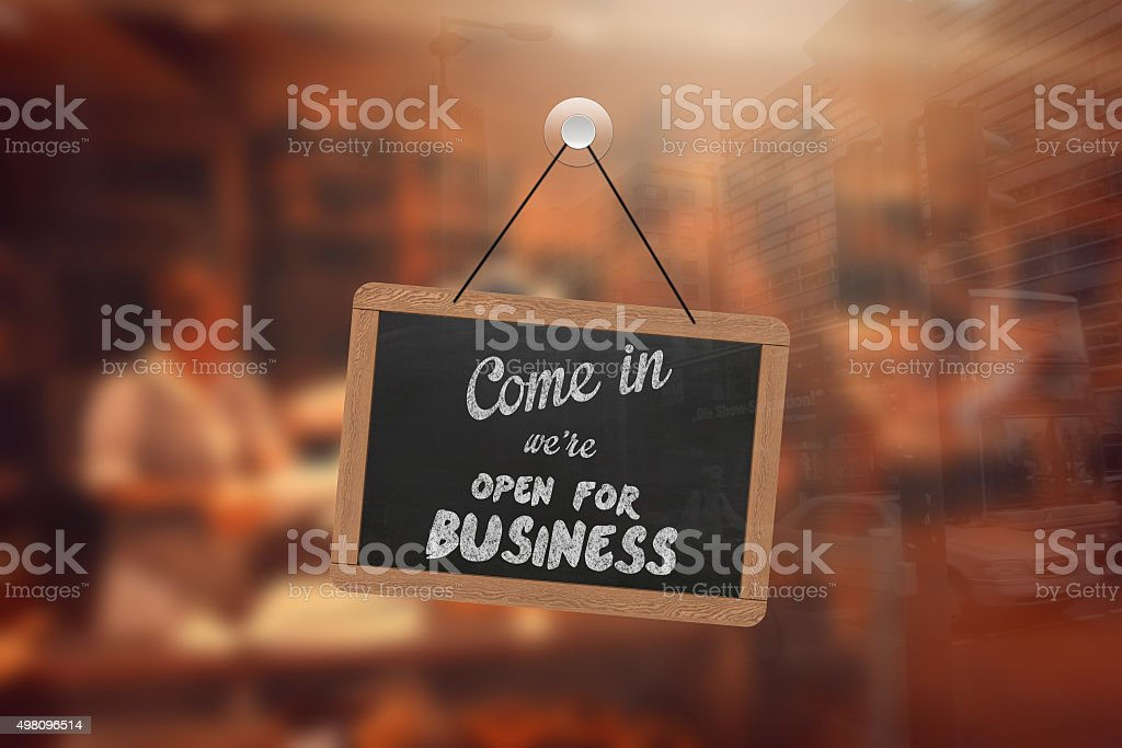 Shop open sign stock photo
