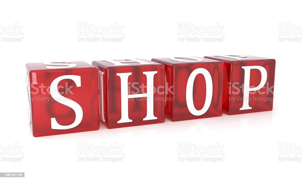 shop red cubes royalty-free stock photo