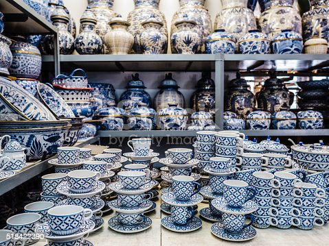 Shop selling porcelain objects near Chatuchak market in bangkok Thailand