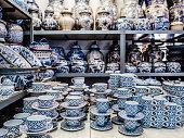 Shop selling porcelain objects near Chatuchak market in bangkok Thailand