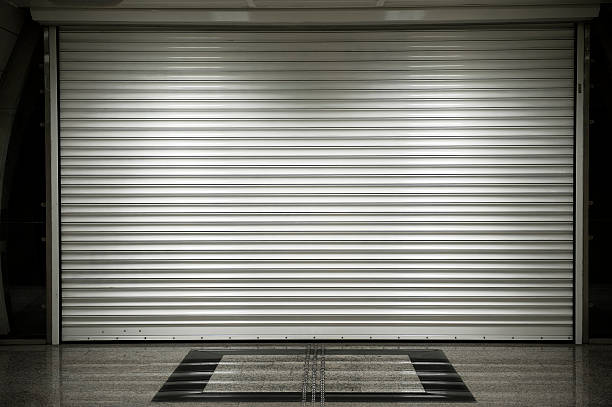 Shop shutters stock photo