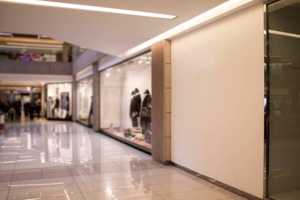 loja parede sinal maquete - shopping - fotografias e filmes do acervo