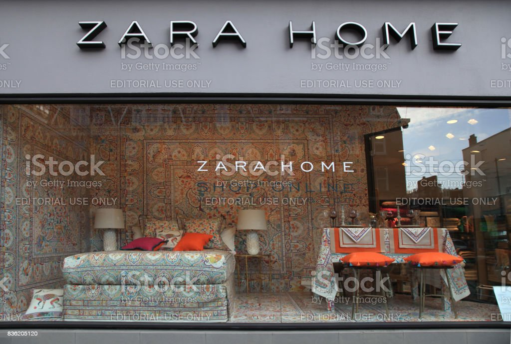 Shop Window And The Logo Of The Brand Zara Home Stock Photo