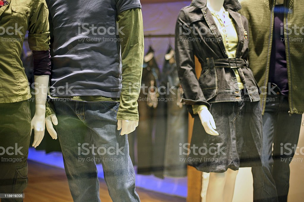Shop window at night royalty-free stock photo