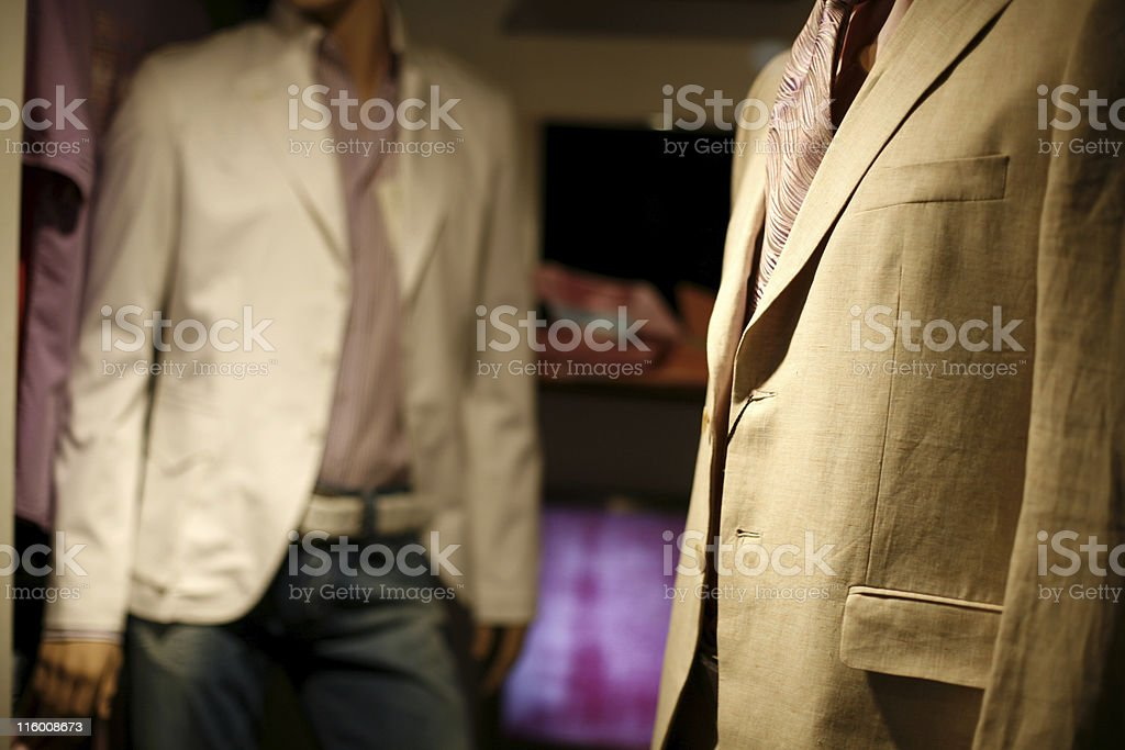 Shop window - blazer jackets royalty-free stock photo
