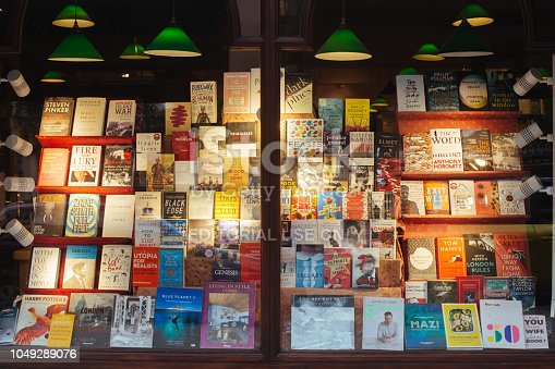 istock Shop window display the Daunt Books store on the Holland Park Avenue 1049289076