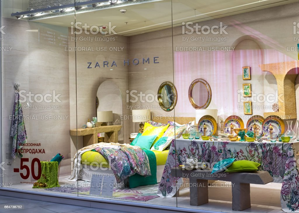 Moscow Russia April 02 2017 Shop Window Of A Zara Home Store