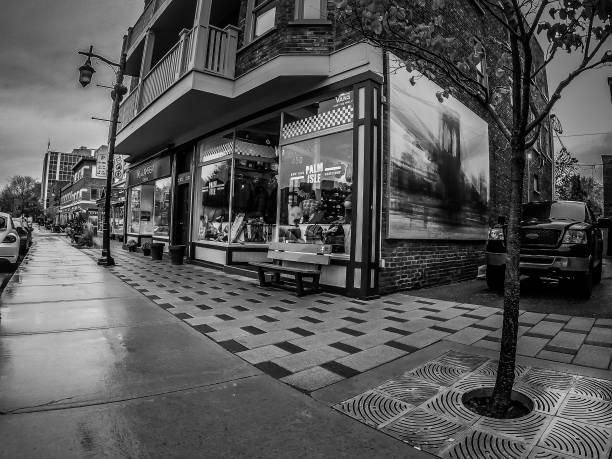 A shop window on the street. stock photo