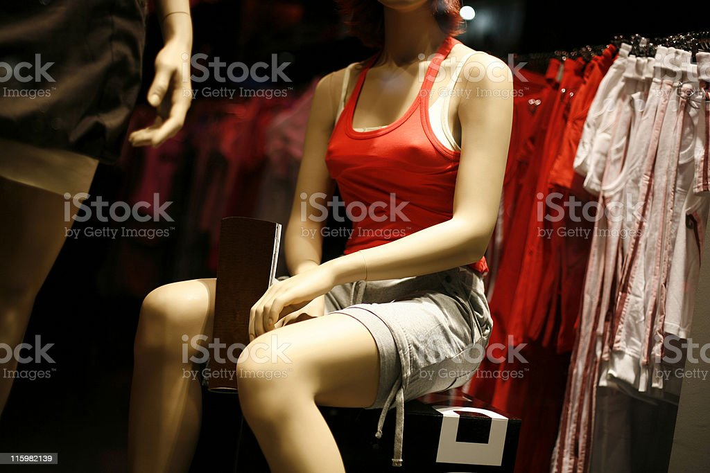 Shop window - womens summer fashion royalty-free stock photo