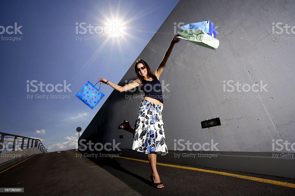 shopaholic girl royalty-free stock photo