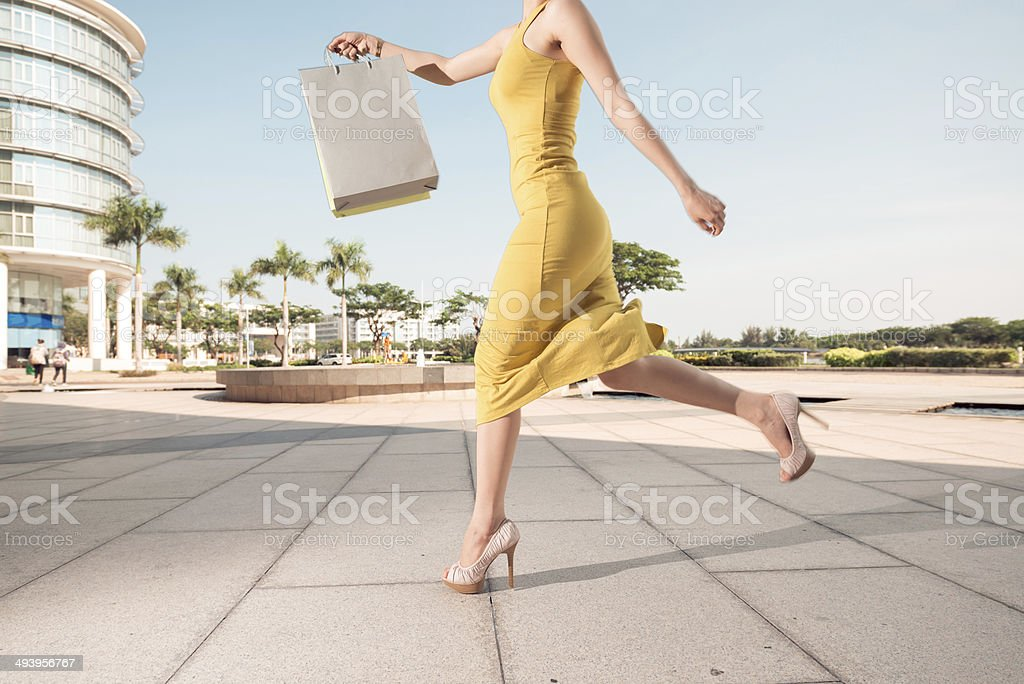 Shopaholic stock photo